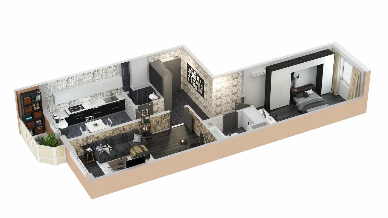 Основные варианты перепланировки 3-х комнатных квартир